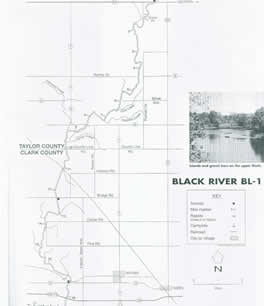 Back River wisconsin map for canoeing