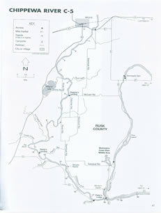 Chippewa river map 5