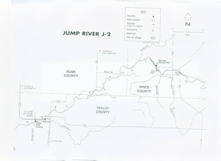 Jump River map