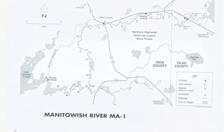 Manitowish River map 1