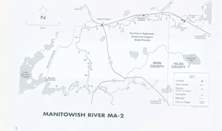 Manitowish River map 2