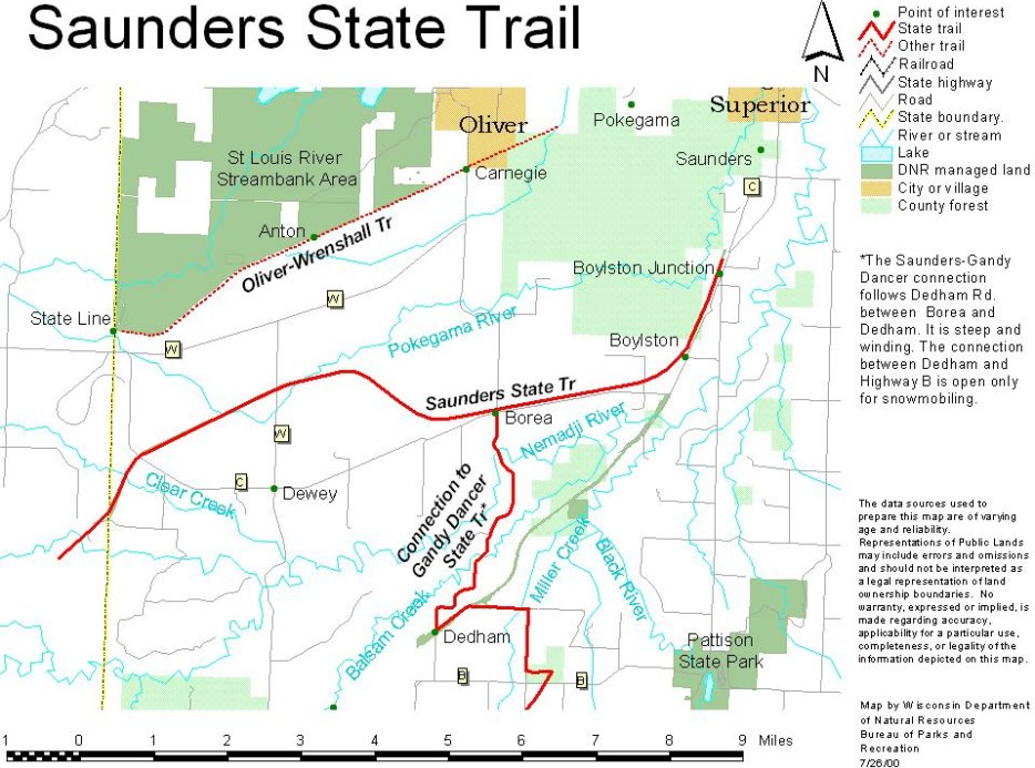 Wisconsin Hiking Trails And Maps